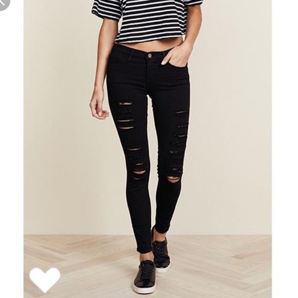 Frame Denim Denim - FRAME le skinny de Jeanne ripped jeans